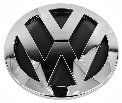 VW TOUAREG 2003 2010 REAR TAILGATE BOOT LID 140mm EMBLEM CHROME BADGE 7L6853630A • 9.50£