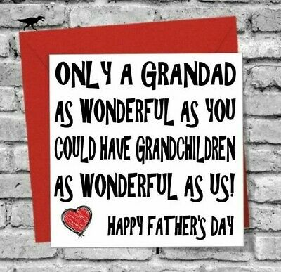 £2.99 • Buy Happy Fathers Day Wonderful Grandad Greetings Card Love Funny Rude Humour Comedy