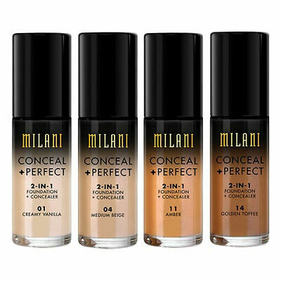 Milani Conceal And Perfect 2 In 1 Foundation + Concealer 30ml • 14.99£