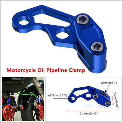 $9.19 • Buy 1PCS Motorcycle Scooter Bikes Modified Parts Oil Pipe Line Clamp Aluminum Alloy