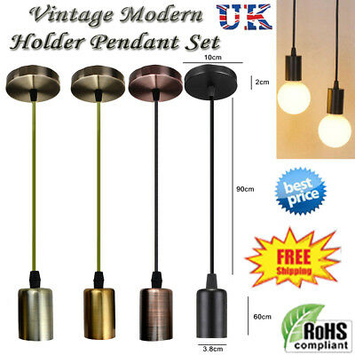 Pendant Lamp Holder Ceiling Plate Electric Cable Fitting Set Lighting Fixture  • 10.86£
