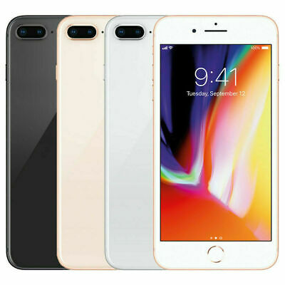 Apple IPhone 8 Plus 64GB Unlocked Smartphone Mobile Warranty IOS -All Colours UK • 399£