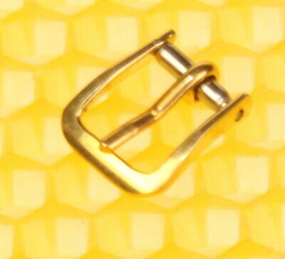7mm Vintage OMEGA Gold-Tone Buckle For Watch Strap Band SWISS MADE <VGU> • 7.20£