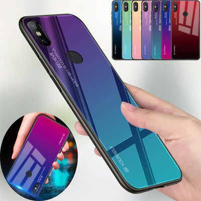 $7.05 • Buy Gradient Tempered Glass Back Case Cover For Xiaomi 8 Lite A1 A2 F1 Mix 2s Mi 9
