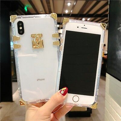 AU7.14 • Buy Square Clear Silicone Phone Case Cover For IPhone 11 Pro X XS Max XR 6 7 8 Plus