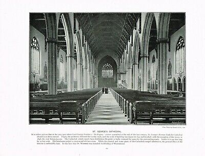 £5.99 • Buy St George's Cathedral Southwark London Antique Old Picture Print C1896 TQL#162