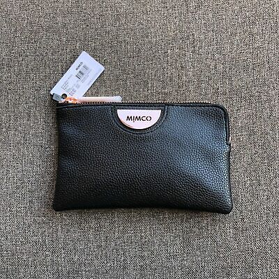 AU35.99 • Buy Mimco Echo Black Rose Gold Small Pouch Leather • Authentic Rrp $79.95