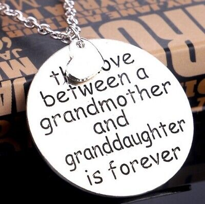 Love Between Grandmother Granddaughter Is Forever Silver Necklace Grandaughter 2 • 5.79£
