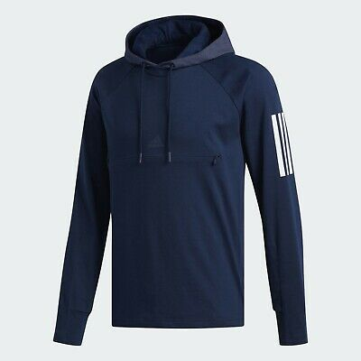 $ CDN47.03 • Buy ADIDAS Hoodie 3-Stripes Front Zip Pocket Pullover Mens Navy Pick Size L, XL