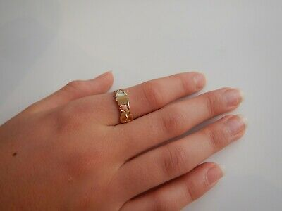 Stunning Antique Victorian 15ct Gold Coral & Pearl Buckle Ring C1900 • 279£
