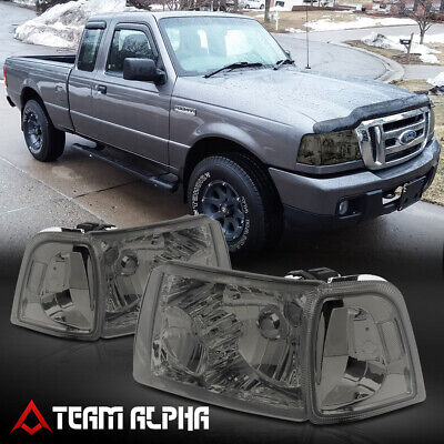 $93.98 • Buy Fits 2001-2011 Ford Ranger [Chrome/Smoke] Crystal Corner Headlight Headlamp Lamp