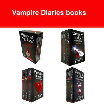 Vampire Diaries Complete Collection 1-13 Books Set By L. J. Smith The Awakening • 42.82£