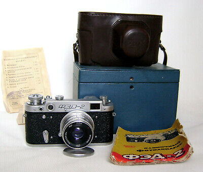 $65 • Buy FED-2 Rangefinder Camera M39 Industar-26m 2.8/50 With Case! Very Good Condition!