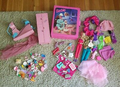 $ CDN66.04 • Buy Large Vintage Barbie Dolls Clothing & Accessories  80s 90s Mixed LOT