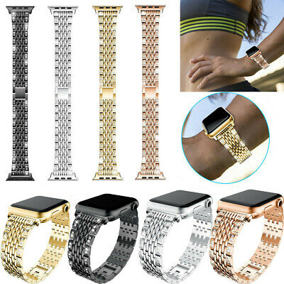 $ CDN15.99 • Buy Stainless Steel Crystal Wrist Strap Bracelet Band For Apple Watch Series 5 4 3 2
