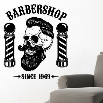 $ CDN34.18 • Buy Barber Shop Wall Sticker Hipster Beard Graphics Quote Decal Art Bb21