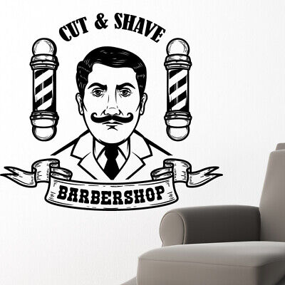 $ CDN44.44 • Buy Barber Shop Wall Sticker Hipster Beard Graphics Quote Decal Art Bb22