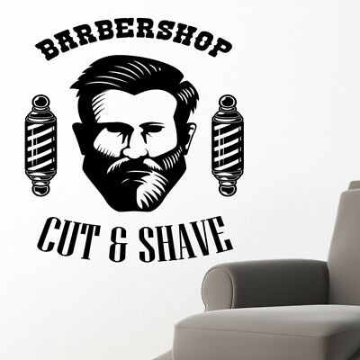 $ CDN34.18 • Buy Barber Shop Wall Sticker Hipster Beard Graphics Quote Decal Art Bb24