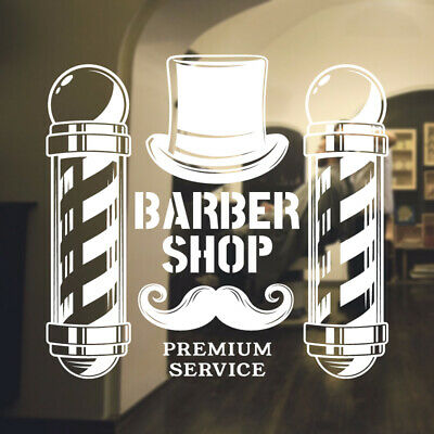 $ CDN49.57 • Buy  Barber Shop Wall Sticker Hipster Beard Graphics Quote Decal Art Bb25
