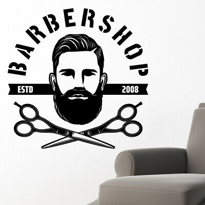 $ CDN34.18 • Buy Barber Shop Wall Sticker Hipster Beard Graphics Quote Decal Art Bb32