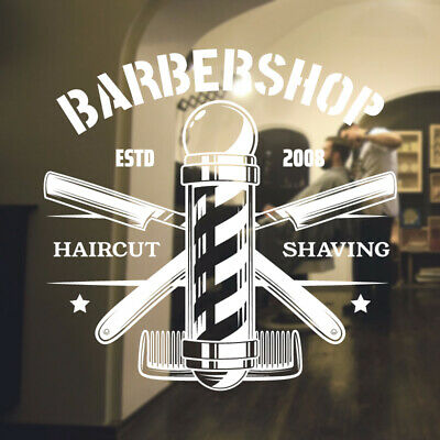 $ CDN34.18 • Buy Barber Shop Wall Sticker Hipster Beard Graphics Quote Decal Art Bb35