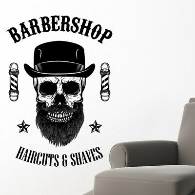 $ CDN34.18 • Buy Barber Shop Wall Sticker Hipster Beard Graphics Quote Decal Art Bb36