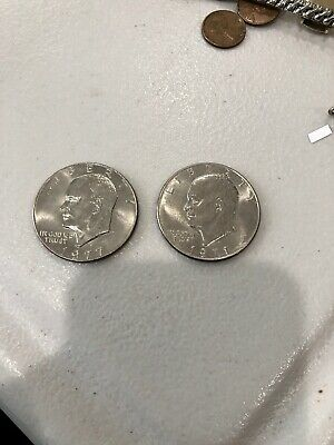 $8.88 • Buy 1971 D & 1977 D One Dollar Liberty Eisenhower US Coin Lot Of 2