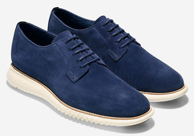 $ CDN204.31 • Buy COLE HAAN 2.Zerogrand PLAIN TOE OXFORD Marine Blue Suede Ivory C25237