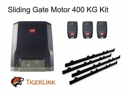 AU699.95 • Buy Italian Sliding Gate Motor BFT 400kg 24V DC Complete Kit 4M Rack With 3 Remotes