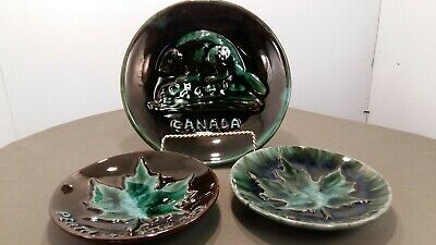 $ CDN17.99 • Buy Blue Mountain Pottery Grp Of 3 Canadian Plates