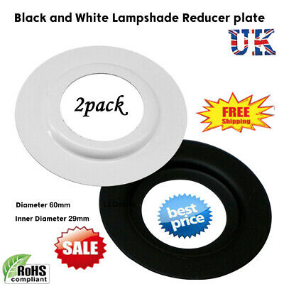 Lamp Shade Fitting Reducer Ring Plate Converter Metal Adapter Black&White Washer • 4.34£