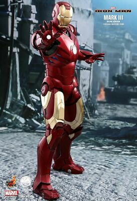 AU1269.23 • Buy Hot Toys Iron Man Mark 3 III 1/4 Scale Figure Deluxe Version QS012 PREORDER