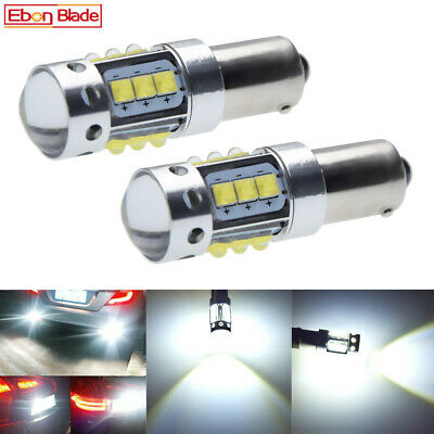 AU23.62 • Buy Pair BAX9S H6W LED Bulbs For Car Backup Reverse Light Canbus White Lamp Globes