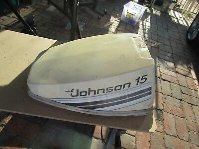 AU179 • Buy Evinrude Johnson Outboard 0393937 MOTOR COVER  Cowl White 10hp - 15HP