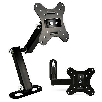 Black Wall TV Bracket Mount Swivel 14 16 18 19 20 21 22 23 24 In LED LCD Monitor • 6.69£