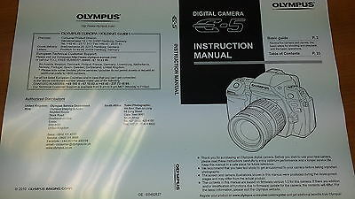 Olympus E-5 Digital Camera Printed Instruction Manual User Guide 171 Pages • 5.99£