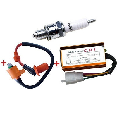 $17.99 • Buy Racing Ignition Coil + Spark Plug + CDI GY6 50cc - 125cc 150cc Scooter ATV Moped