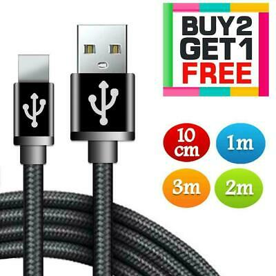 Long Braided USB Fast Charger Charging Data Cable Lead For IPhone 6s 7 8 6 5s X • 2.79£