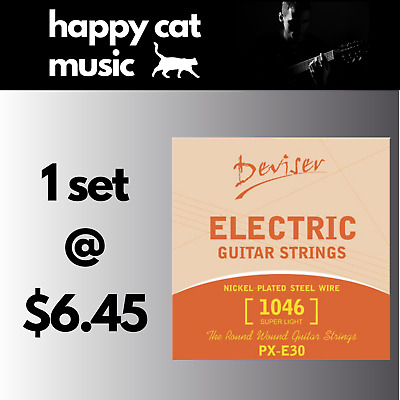 AU6.45 • Buy Set Of Electric Guitar Strings (10-46) *** FREE POSTAGE ***
