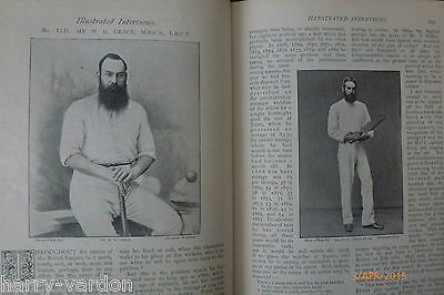 W G Grace Cricket Rare Old Victorian Interview Family Photo Article Letter 1895 • 14.39£