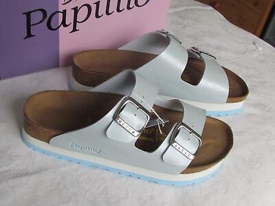 NEW Papillio Arizona Ladies Baby Blue Platform Mules Sandals UK Size 8 EU 42 • 64.99£