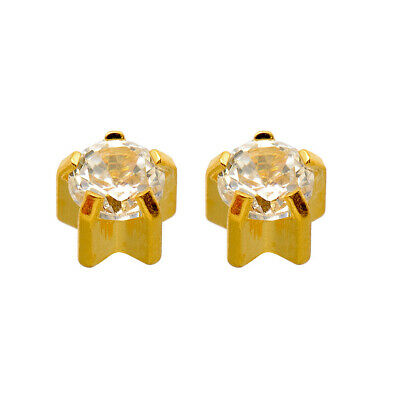 £3.66 • Buy Caflon 24ct Gold Plated Claw Set Ear Piercing Studs (1x Pair)