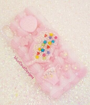 Pastel Pink Candy Sprinkle Pusheen Decoden Phone Case IPhone Xs MAX • 21.71£
