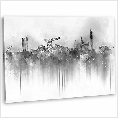£29.99 • Buy Glasgow Skyline Canvas Print Abstract Framed Wall Art Picture 76x51cm