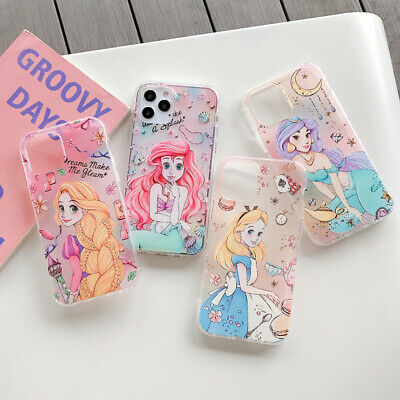 AU5.98 • Buy Cute Disney Princess Cartoon Soft TPU Case Cover For IPhone 12 11 Pro XR Max 8 7