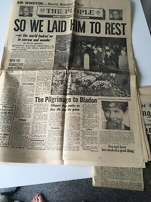 £25 • Buy Old Newspapers 1940 1962 Winston Churchill Memorial Edition Coventry Cathedral