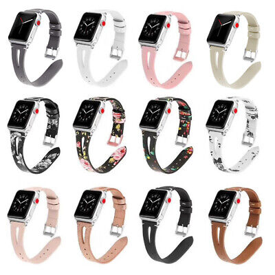 $ CDN14.17 • Buy Lady Slim Watch Strap Watch Band Floral Leather For Apple Watch Series 54/3/2/1