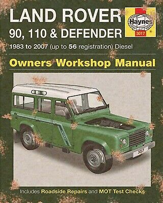 LAND ROVER DEFENDER HAYNES WORKSHOP MANUAL GARAGE 4x4 METAL PLAQUE TIN SIGN 1533 • 6.99£