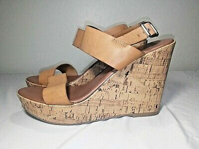 da7af52276 Mossimo Women's Sz 11 Brown Tan Wedge Sandals Straps Cork Platform EUC  Target • 16.34$