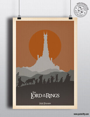 £8 • Buy LORD OF THE RINGS - Minimalist Movie Poster Print Posteritty JRR Tolkien LOTR